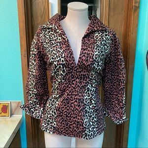 EUC Animal Print Lauren Top 3X